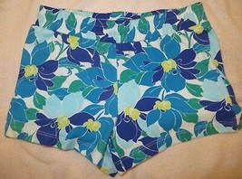 Gymboree Mix N Match Blue Flower Floral Knit Shorts Size M Medium 7-8 7 8 - $15.76