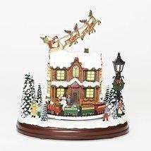 Roman LED Lit Santa and Reindeer on House Animated Christmas Musical  - $145.00