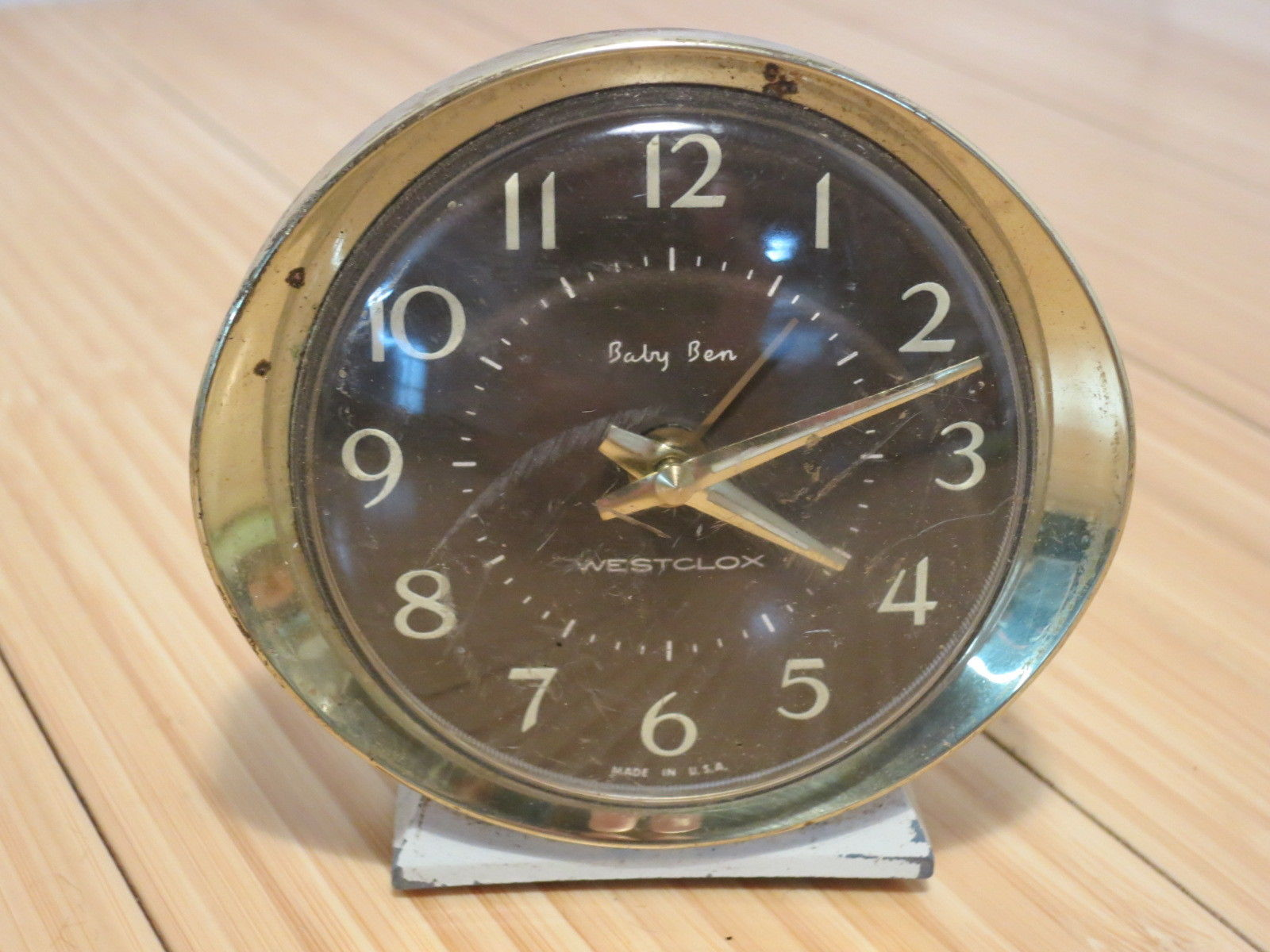 Vtg Westclox Baby Ben Wind Up Alarm Clock For Parts Or