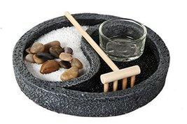 Zen Garden Ying Yang Enlightenment Set Meditation Use Home Office Decor Starter  - $22.76