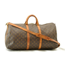LOUIS VUITTON Monogram Keepall Bandouliere 55 Boston Bag M41414 LV Auth ... - $420.00