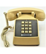 Touch Tone Push Button Tan Beige Telephone Vintage Free Shipping 1980's ... - $32.66