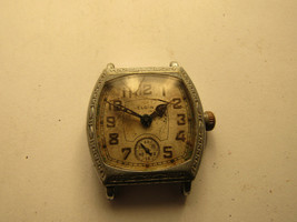 Art Deco Bezel Elgin Cusion Case Watch For Repair Or Parts Balance Staff Ok - $121.12