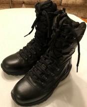 Converse Tactical Boots Black Uniform Leather Side Zip Mens 5-1/2 Womens  7-1/2 - $98.01