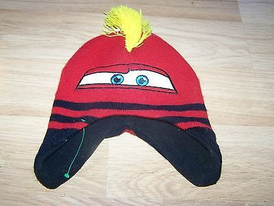 2baba53c036 1. 1. Toddler One Size Disney Cars Lightning McQueen Red Skull Cap Beanie  Winter ...