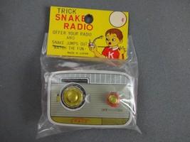 Vintage Tin Trick Snake Radio New Old Stock-Original Japan Sealed Practi... - $20.03