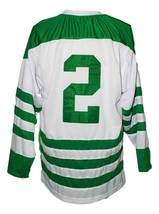 Custom Name # Parry Sound Shamrocks Retro Hockey Jersey White Orr #2 Any Size image 5