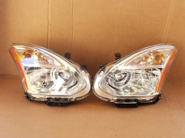 08-10 Nissan Rogue HID Xenon Headlights Set L&R - POLISHED image 1