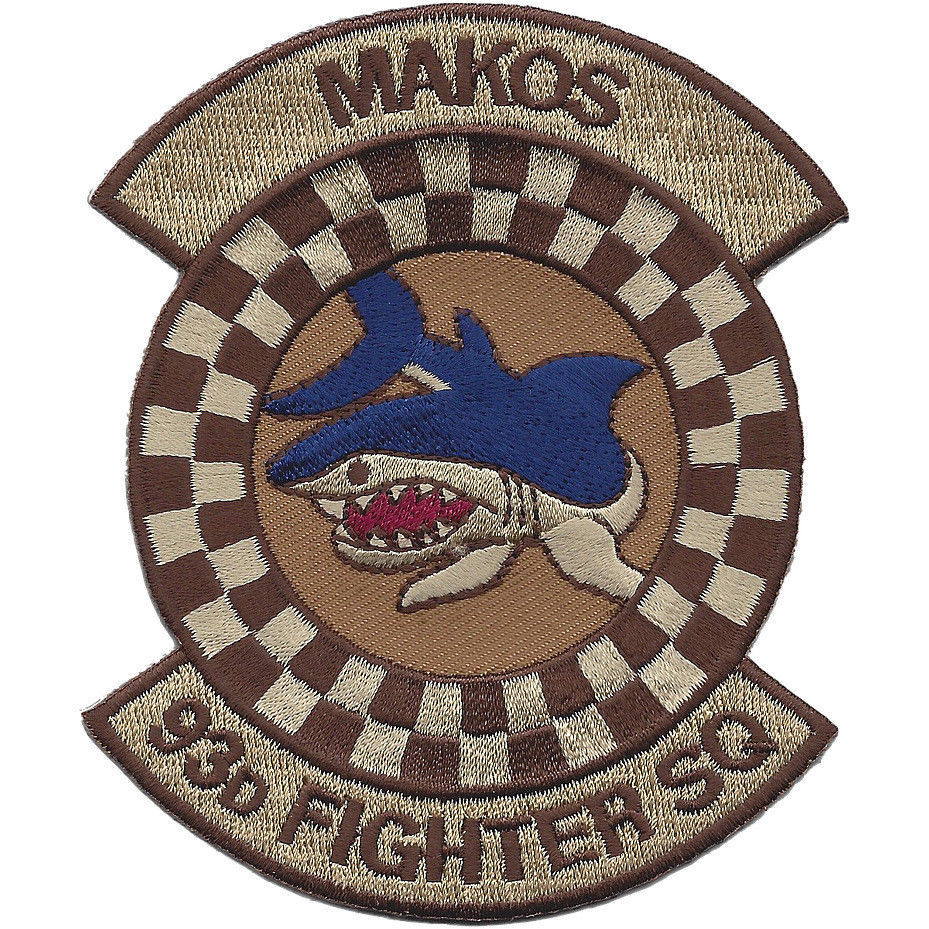 Primary image for USAF 93rd Fighter Squadron Desert Patch - MAKOS VIPERS Older Patch