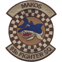 USAF 93rd Fighter Squadron Desert Patch - MAKOS VIPERS Older Patch - $11.87