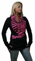 Bench UK Barcode Gemeinkosten Schwarz Rosa Pullover L Groß Hemd