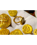 QUEENS JEWELS RING 1715 FLEET GOLD PIRATE SHPWRECK TREASURE ARTIFACT GOL... - $9,950.00