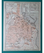 UKRAINE Odessa on Black Sea City Town Plan - 1911 MAP - $30.60