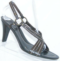 Cole Haan brown leather round toe D19494 slingback stacked heel 7.5B 4958 - $19.57
