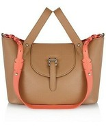 Meli Melo Thela Color Block Small Tan  Leather Satchel Ladies Bag - $539.10