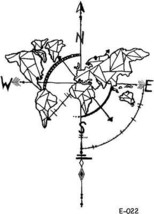 WYUEN 5 Sheets World Map Temporary Tattoo Tattoo Sticker For Women Men Body Art - $12.66