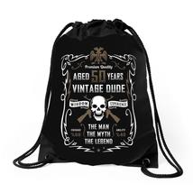 Aged 50 Years Vintage Dude Drawstring Bags - $30.00
