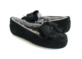 UGG ANSLEY BOW BLACK SHEARLING LINED MOCCASIN SHOE US 10 / EU 41 / UK 8 - $107.53