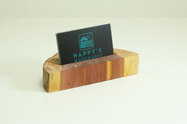 Wood Business Card Holder Cedar, Office Gift for Boss, Business Card Dis... - $13.00