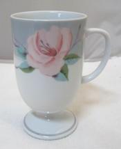 Victorian Rose By Saltera Himark 1985 Pink Rose Pedistal Coffee Mug 5 In... - $29.69