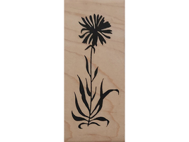 Endless Creations Tall Flower Wood Mounted Rubber Stamp #G72 image 1