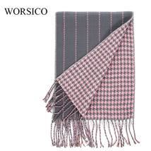 Women Tassels Scarves Autumn Winter Men Blanket Shawl Double Sided Patte... - $13.95