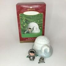 Hallmark 2000 FROSTY FRIENDS Christmas Ornament Porcelain Pewter SERIES ... - $19.75