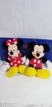 Disney World Mickey and Minnie Mouse Plush Bundle Disney Mickey Mouse Pl... - $29.30