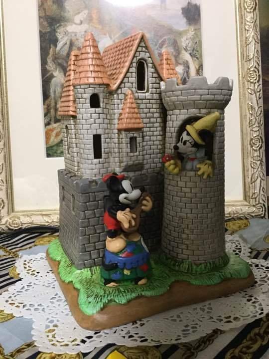 Disney Pottery Mickey & Minnie Interior Lamp Castle Table Light Lighting