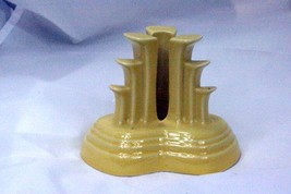 Homer Laughlin 2002 Fiesta Yellow Tripod Pyramid Candle Holder - $25.19