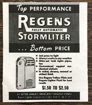 1949 Regens Fully Automatic Storm Liter Stormliter Print Ad - $7.49