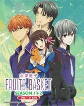 Fruits Basket Season 1 + 2 (Vol.1-51 end) with English Dubbed Ship Out From USA