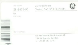 BAG OF 2 NEW GE HEALTHCARE 28-9675-90 O-RINGS 5x1.35 FPM/FKM 28967590
