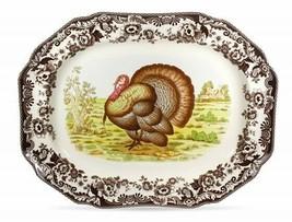 Woodland Turkey Rectangular Platter 17.5 inches Long Dishwasher & Microw... - $222.38