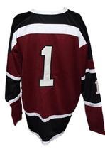 Custom Name # Boston Braves Retro Hockey Jersey 1970 New Maroon Any Size image 2