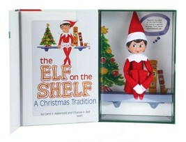 Box Set Elf on the Shelf Doll and Book - Girl - Blue Eyes Dark Hair - Brand NEW image 2