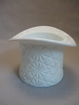Milk Glass Top Hat Daisy & Button Candle Holder Indiana Glass Co 1909-Till - $9.95