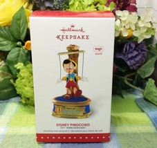 Disney Pinocchio 2015 Hallmark Disney Christmas Ornament 75th Anniversary - $39.75