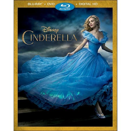 Disney Cinderella (Blu-ray + DVD + Digital, 2015)