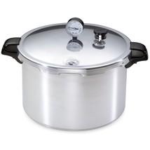 16 Qt. Aluminum Pressure Cooker Stovetop Deluxe Pressure-Gauge Canning P... - £68.82 GBP