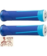 ODI AG1 LOCK-ON BLUE BMX-MTB BICYCLE GRIPS - $23.49