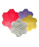 Concrete Stamp Mats. Set of 4 Pc GlobMarble SM 1901. Random Stone stamp... - $425.00