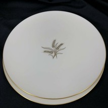 """Set of 2 Wheat by Lenox R-442 9 7/8"""" Dinner Plates Made in USA Used Gold... - $64.35"""