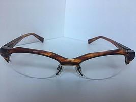 New Vintage ALAIN MIKLI A 09280001 53mm Striped Havana Eyeglasses Frame France - $329.99