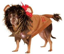 Cowardly Lion Wizard of Oz Rubie's Halloween Pet Dog Cat Costume Large - £12.03 GBP