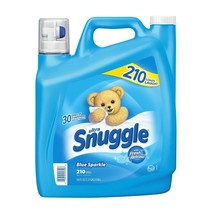Snuggle Blue Sparkle Fabric Softener (168 oz., 210 loads) Fast Shipping - $14.55