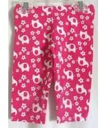 Jumping Beans Toddler Girls Pink Elephant Pedal Pusher Leggings Pants - $11.99