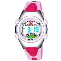 IWOCH Boys Girls Watches Outdoor Sports Waterproof LED Digital Ages 5-7 7-10 wit