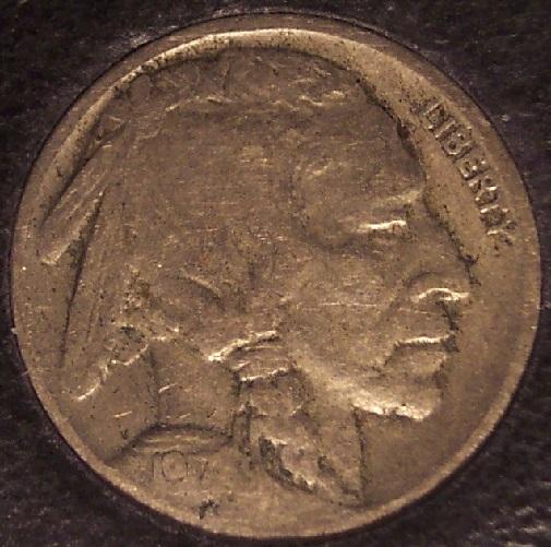 1917-D Buffalo Nickel VG Scarce Date #01002 - $25.99