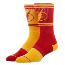 The Flash Flipped Colors DC Comics Adult Athletic Crew Mens Socks Nwt - $11.99